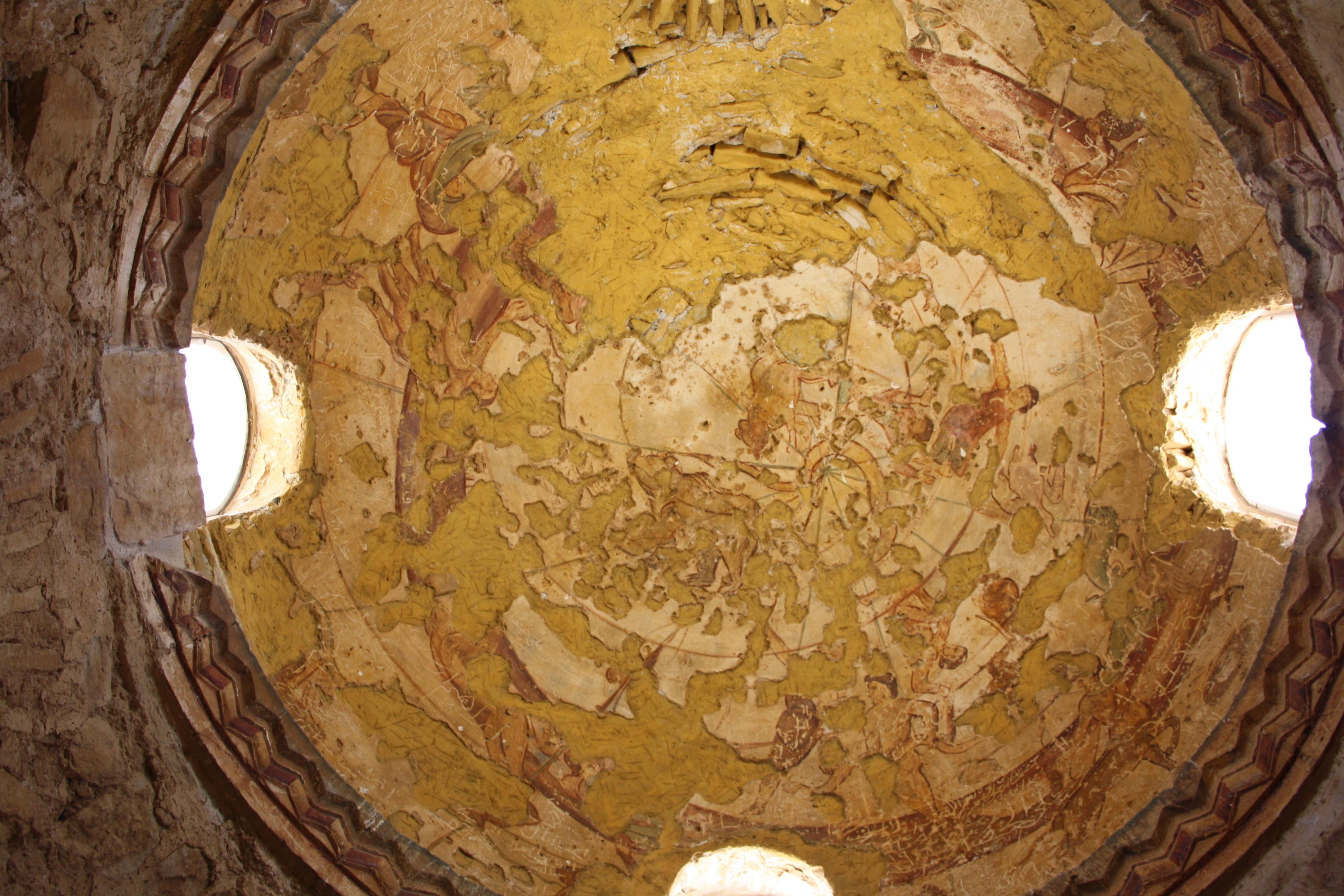 Affresco con soggetto i segni zodiacali Qasr Amra, I castelli del deserto orientale