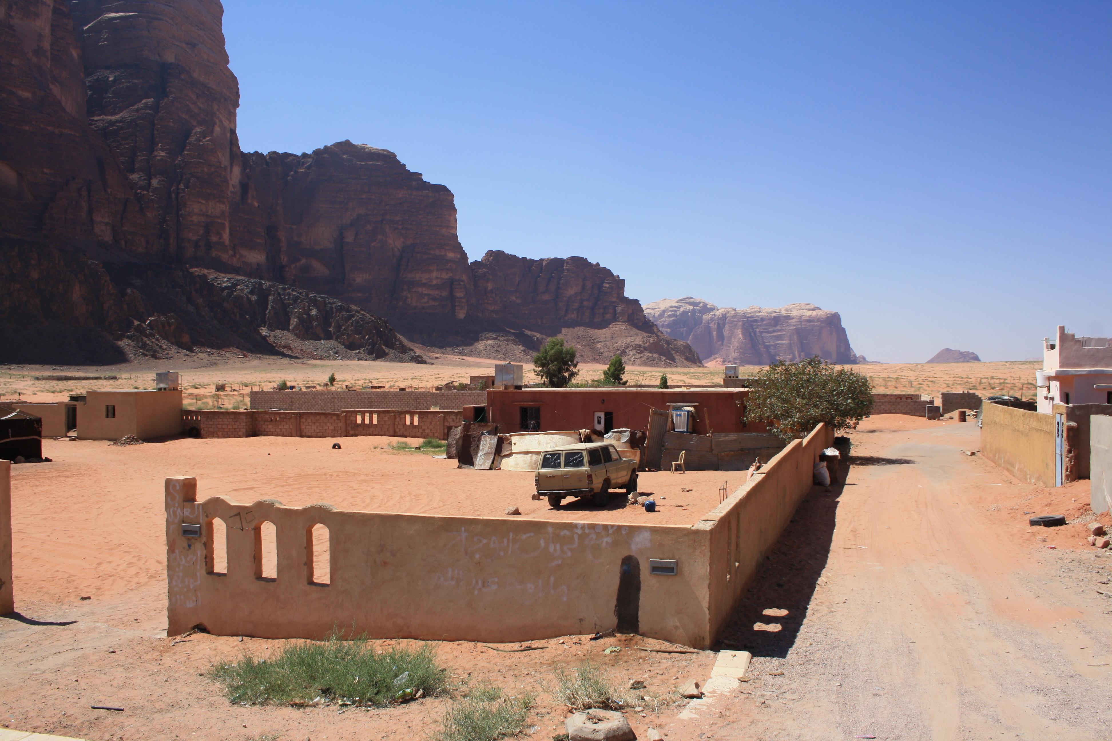 il villaggio di Wadi Rum