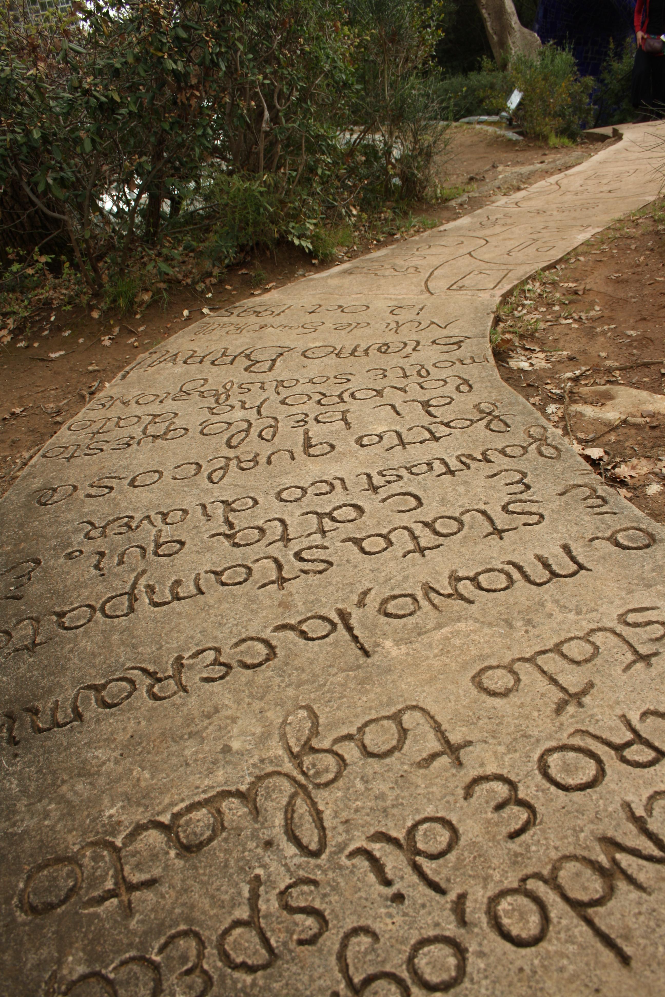 Il sentiero, Il Giardino dei Tarocchi