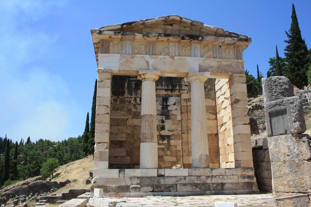 Tesoro degli Ateniesi, Delfi