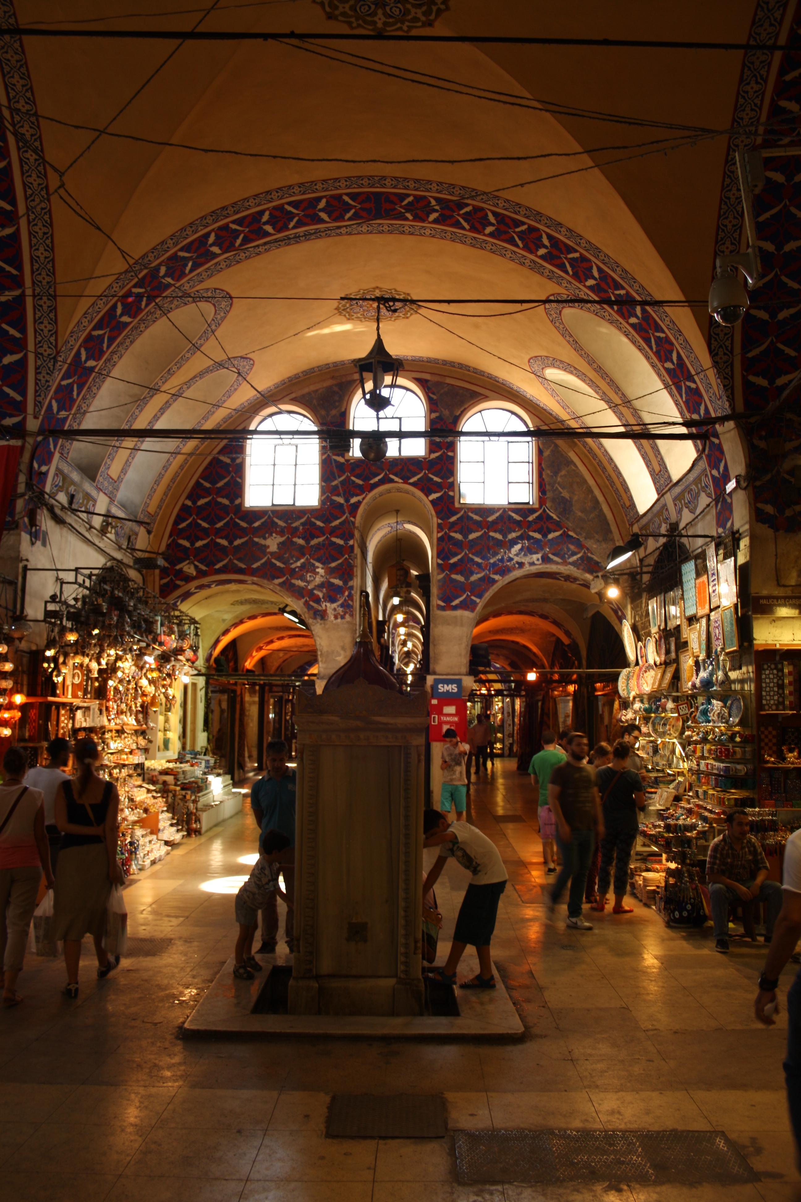Il bazar, Kapalı çarşı, interno