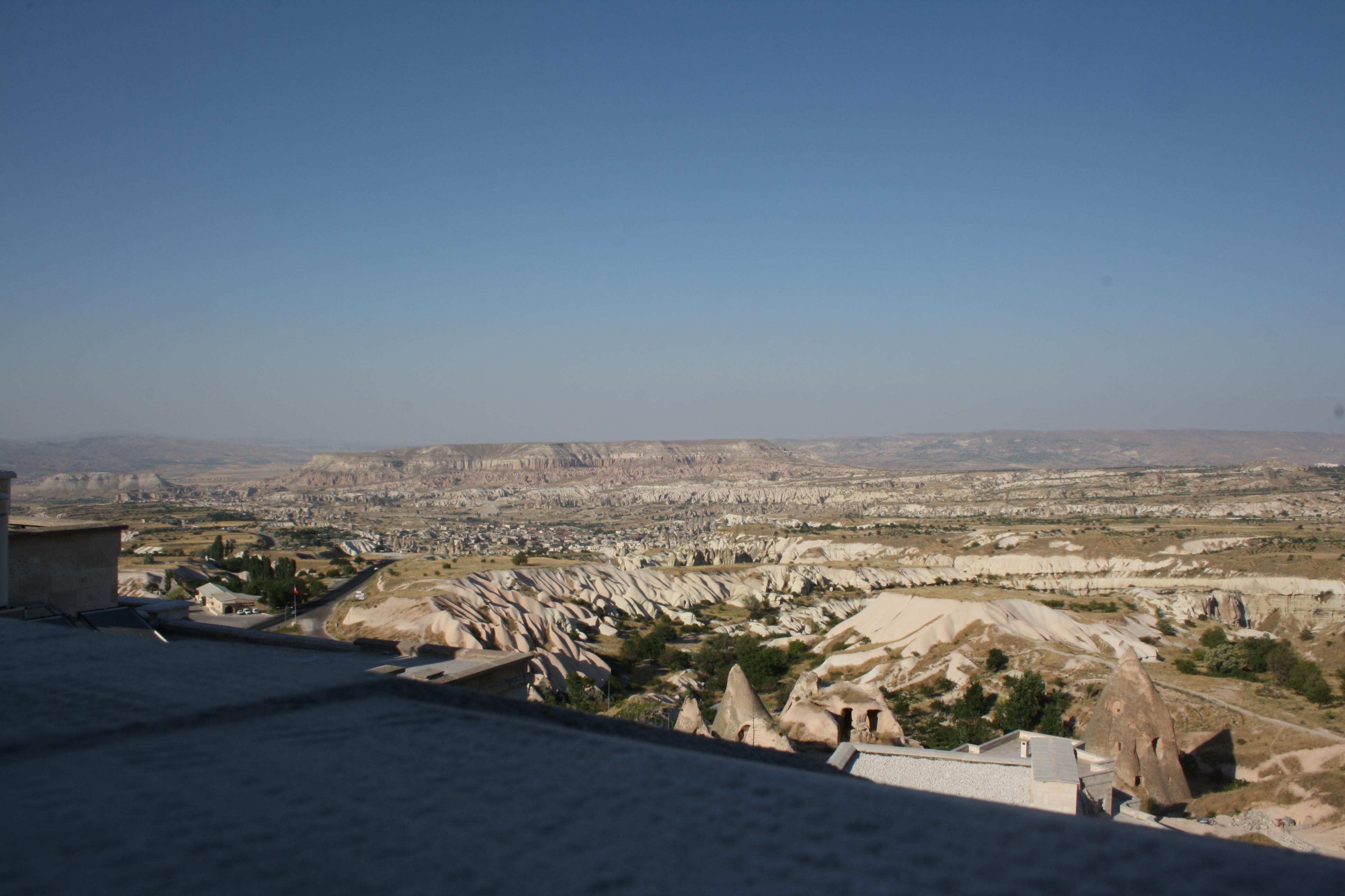 Il panorama che si vede da Uchisar
