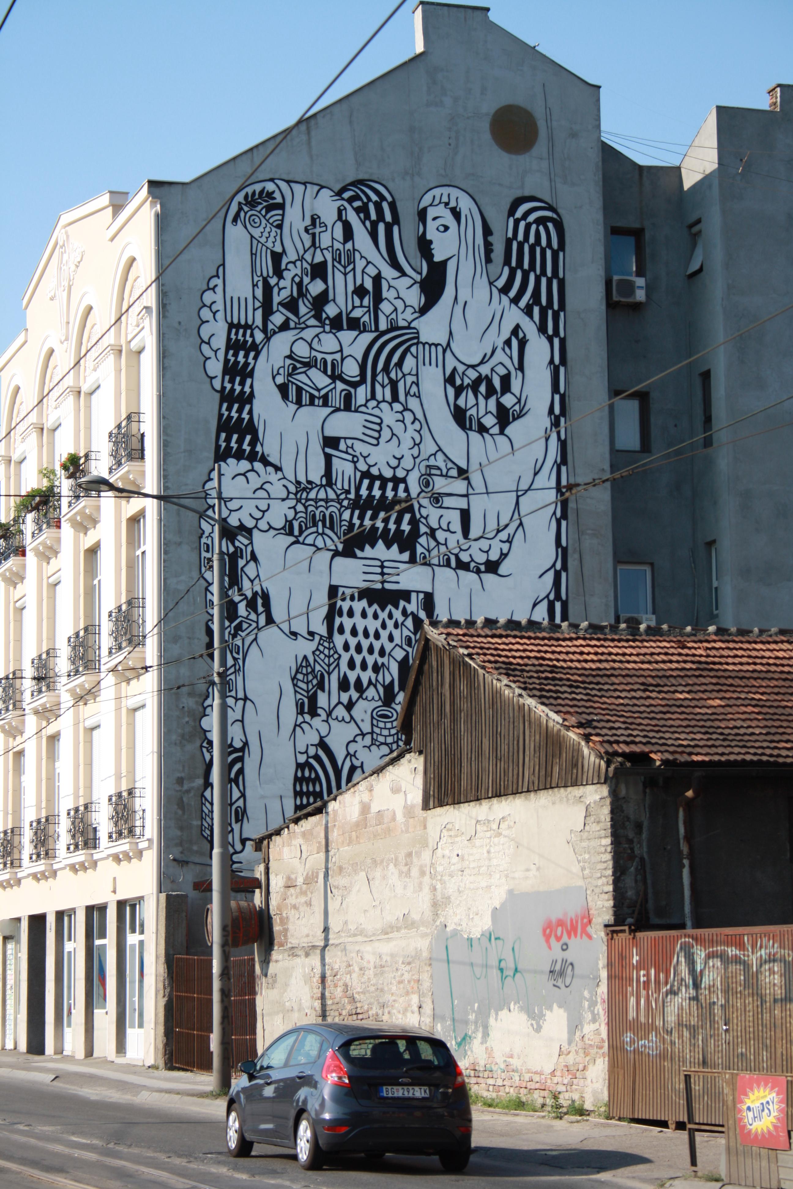 La Santa di Belgrado opera dell'artista francese Remed