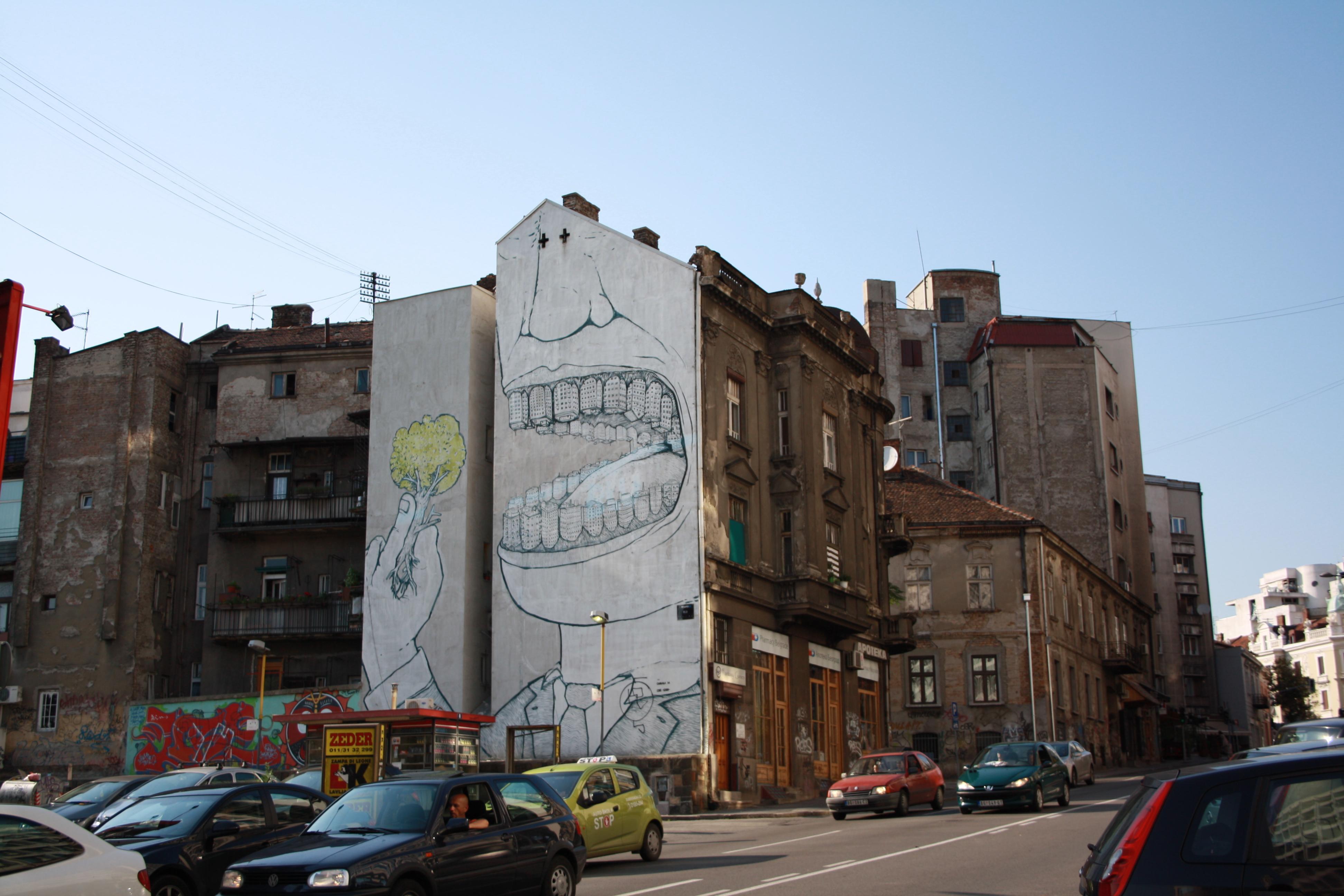 un'opera di Blu, Belgrado