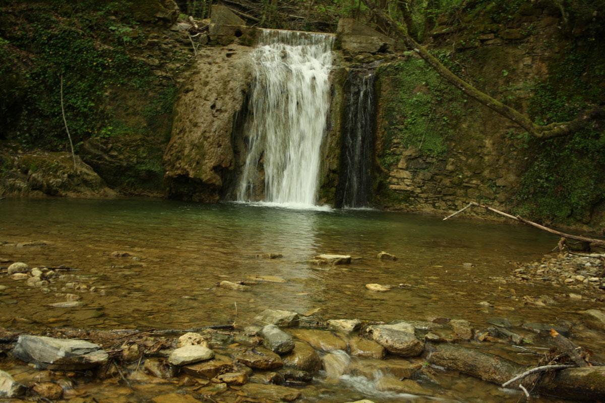 La prima cascata de il Ghiaccione