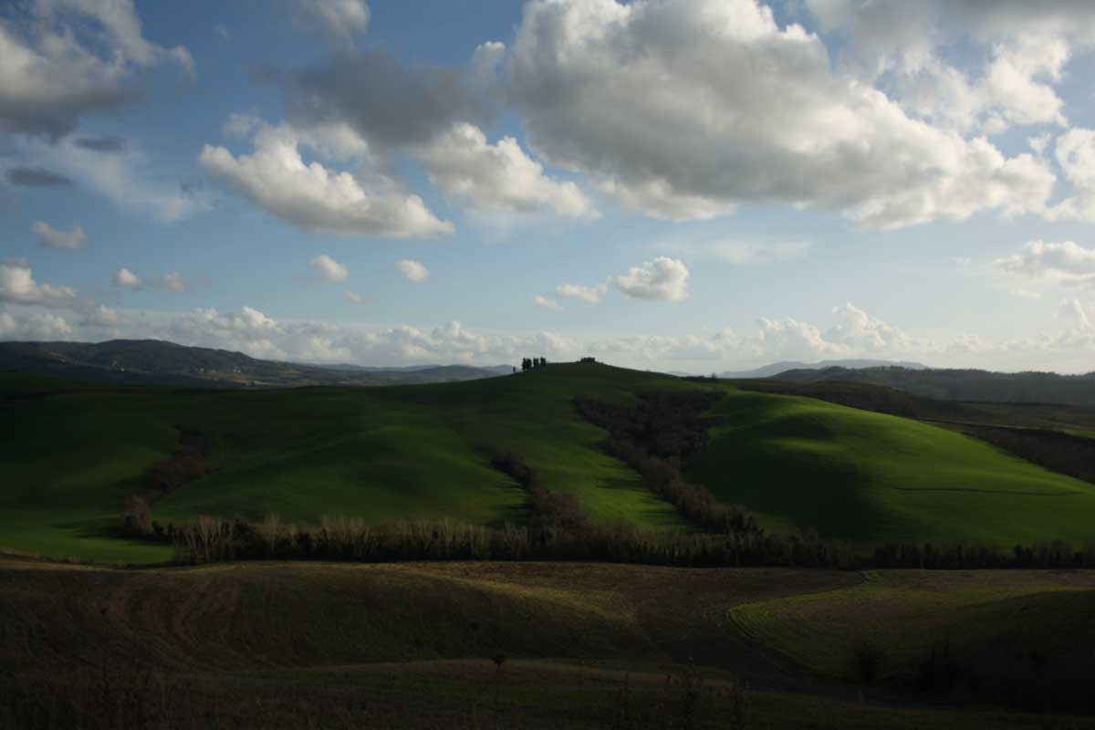 paesaggio intorno a Castelfalfi