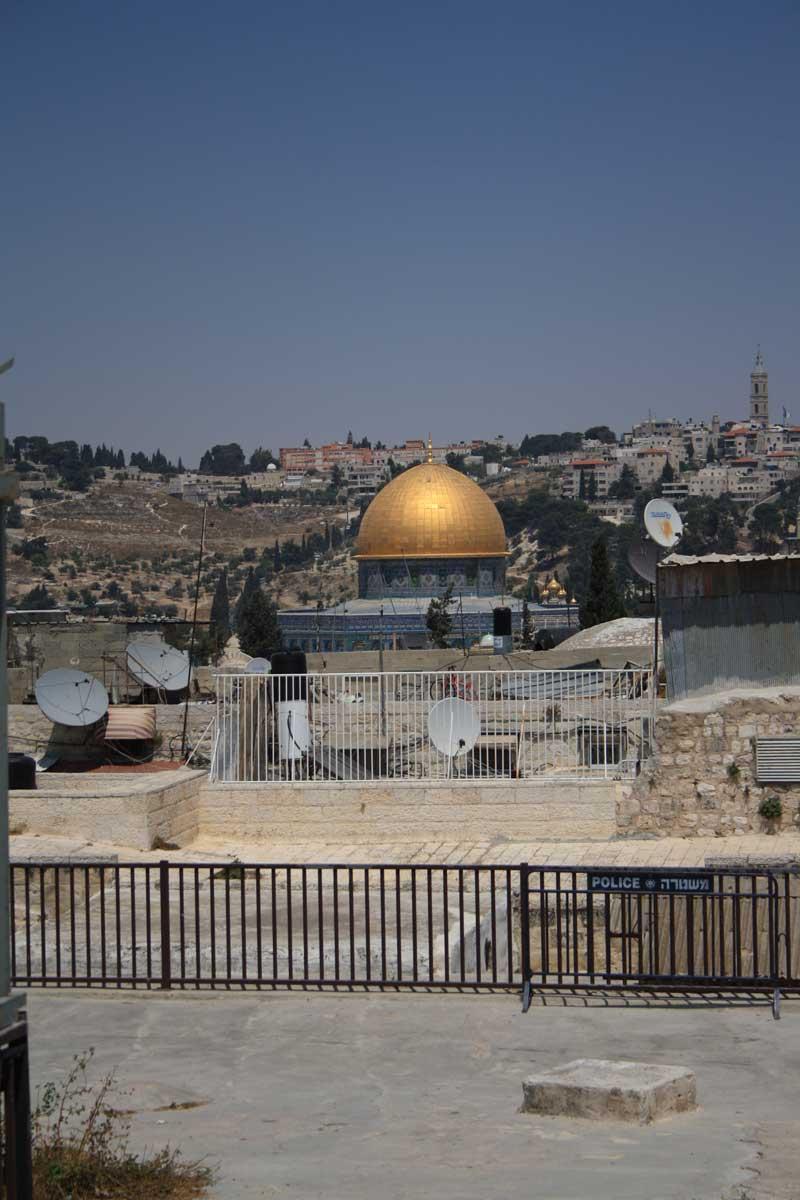 Vista dal percorso sui tetti, Gerusalemme