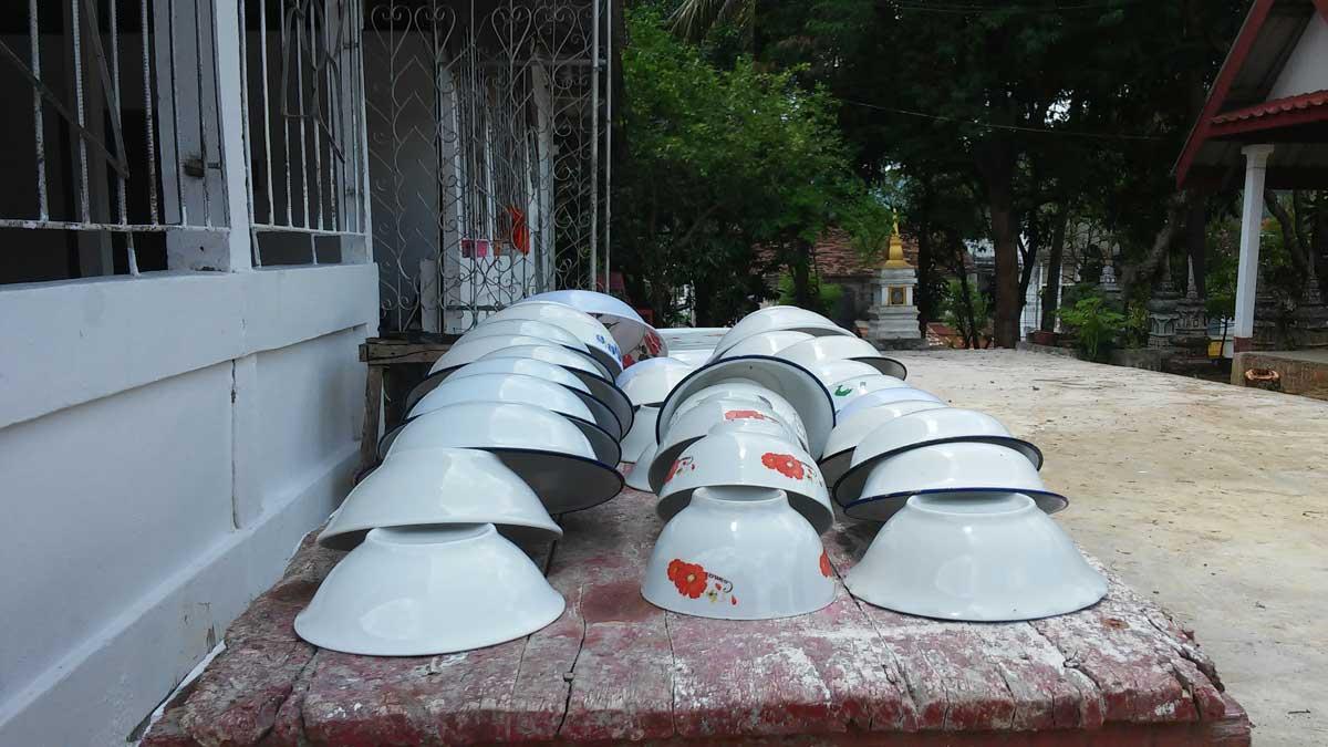 ciotole ad asciugare, Luang Prabang