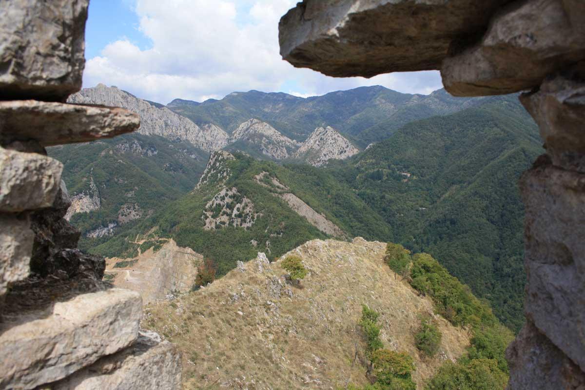 Panorama dalla rocca di Lucchio