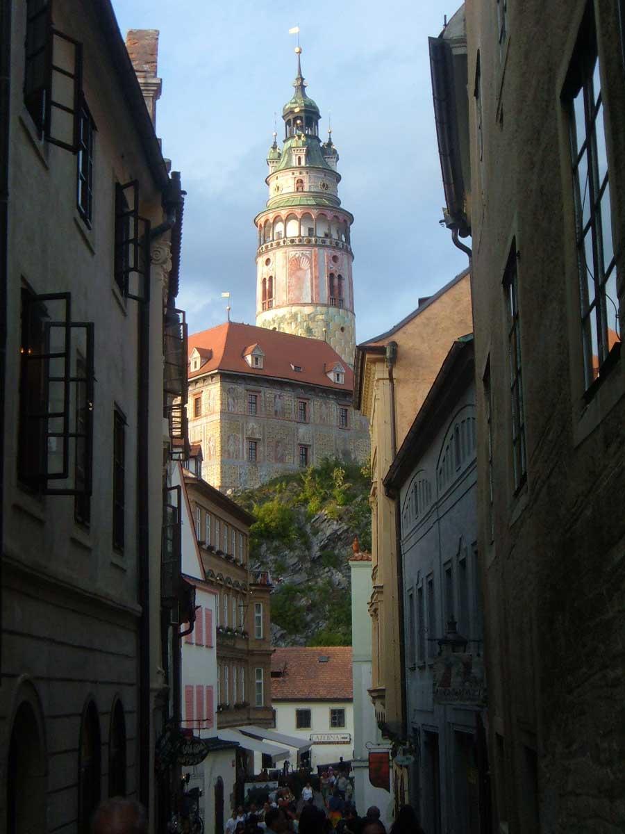 Le strette vie di Český Krumlov