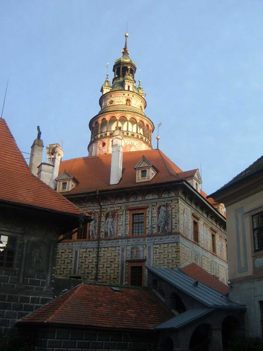 Torre del castello di Český Krumlov
