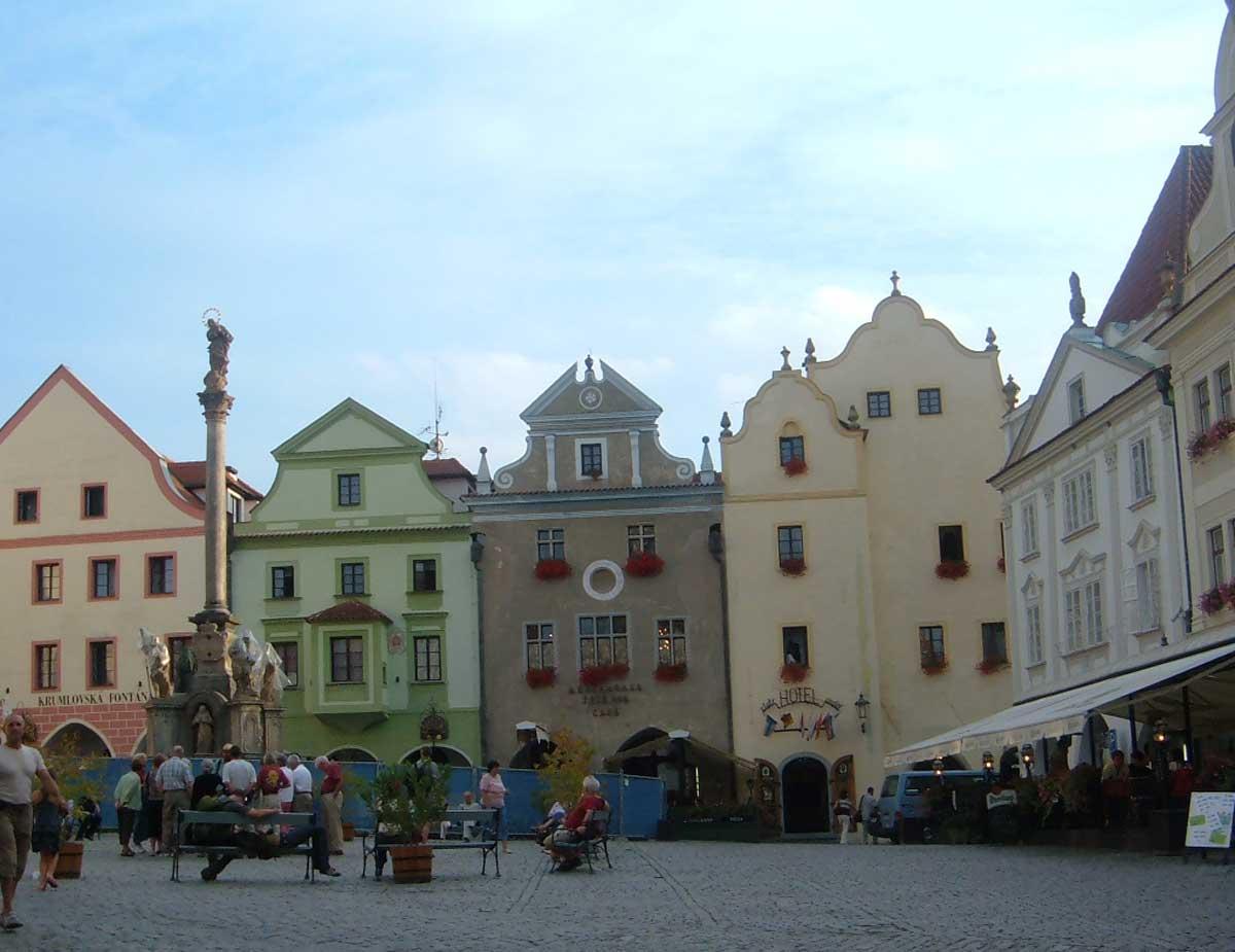 piazza di Český Krumlov