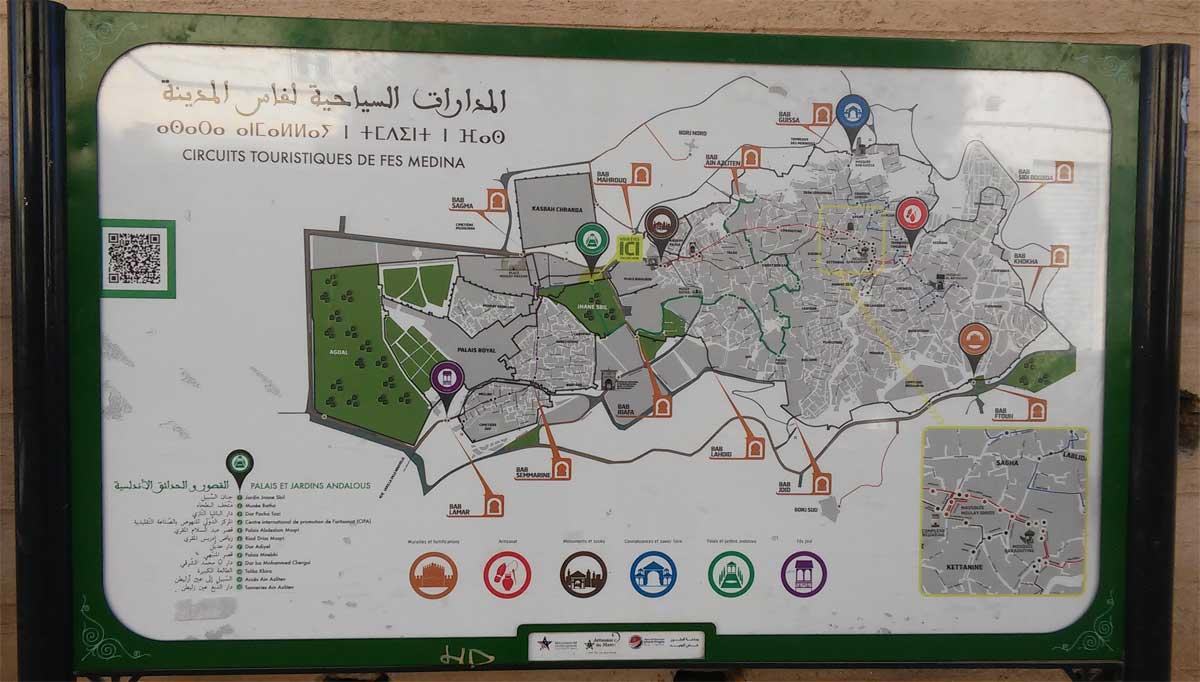 Come muoversi a Fes: mappa della medina, molto utile per orientarvi