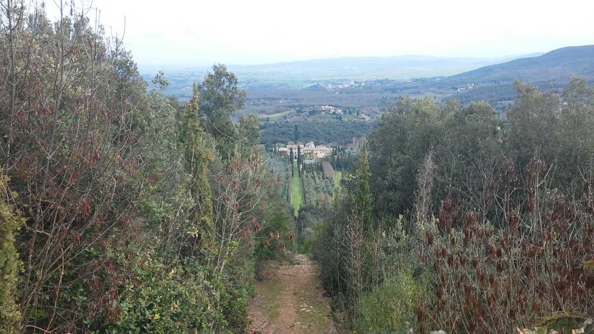 Romitorio di Cetinale, panorama