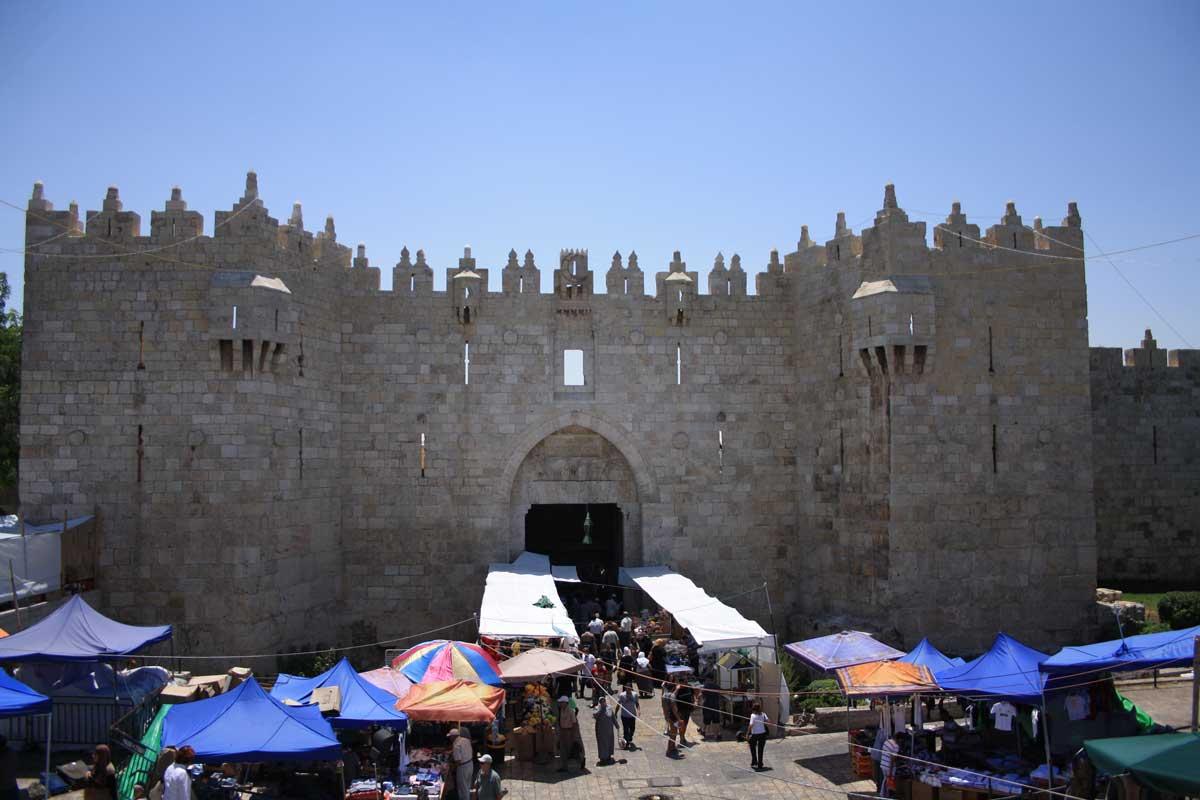 Mercato alla Porta di Damasco a Gerusalemme - Israele
