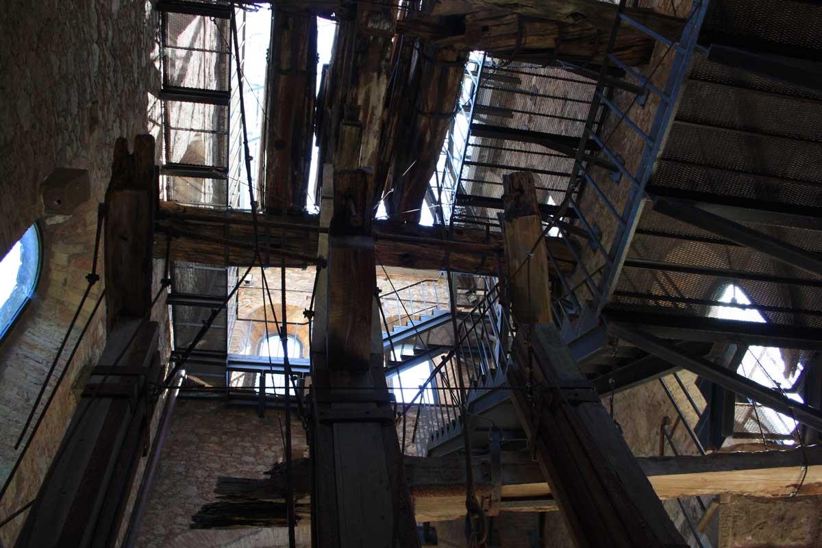 Miniera di Montecatini Val di Cecina, Pozzo Alfredo, interno
