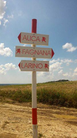 Anello di Alica, segnaletica
