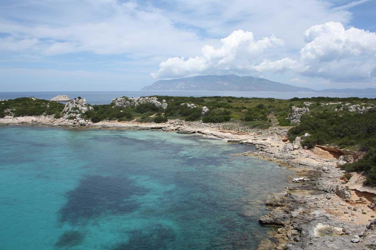 I caraibi in Toscana: isola di Pianosa, Porto Romano, uno dei quattro porti di Pianosa nel periodo romano