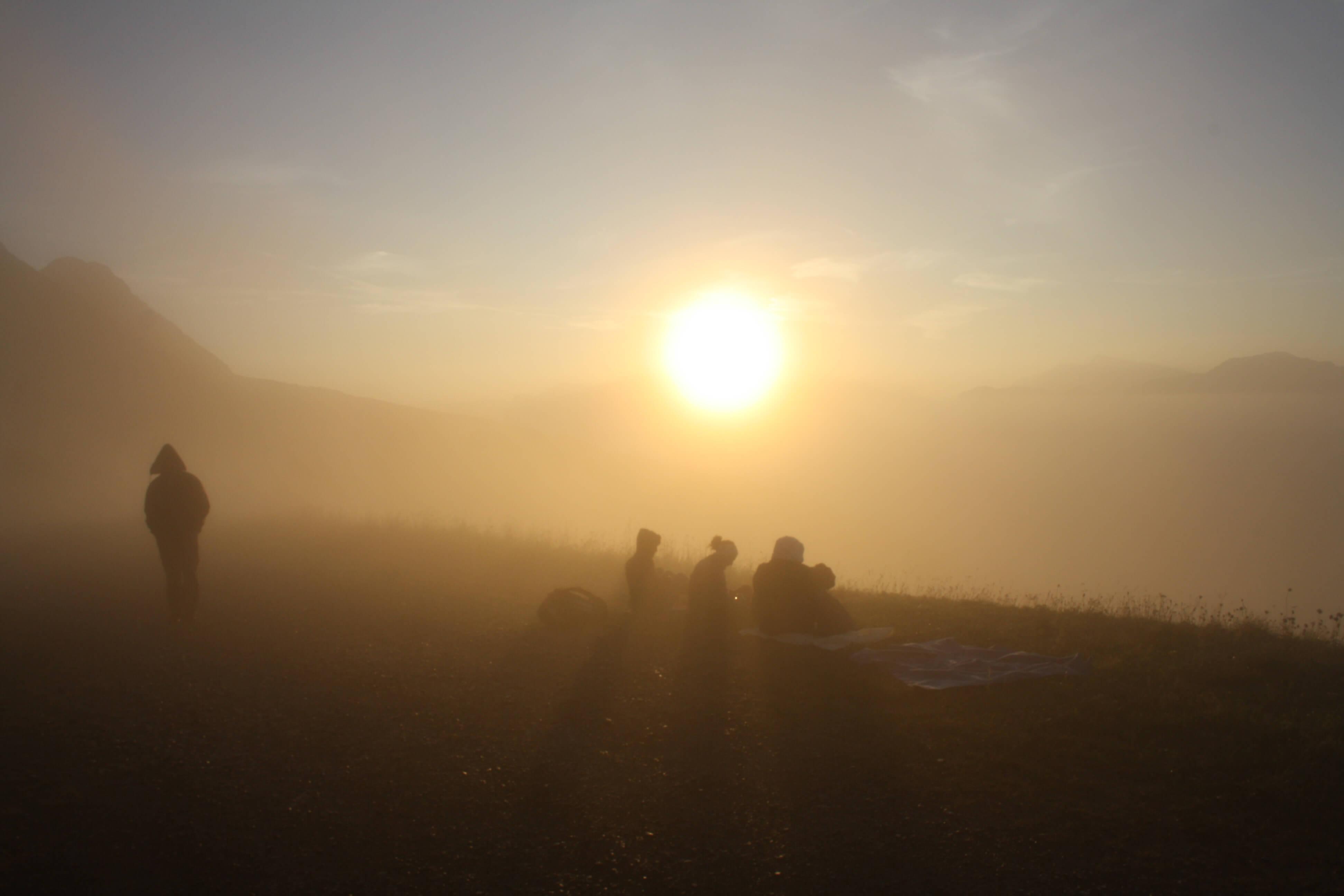 Val di Fiemme, Trentino Alto Adige guardando l'alba