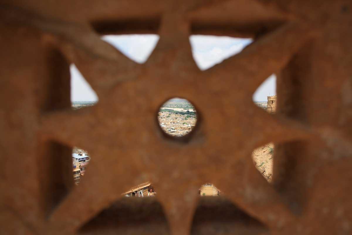 Jaisalmer, la città d'oro nel deserto - particolare dalla fortezza