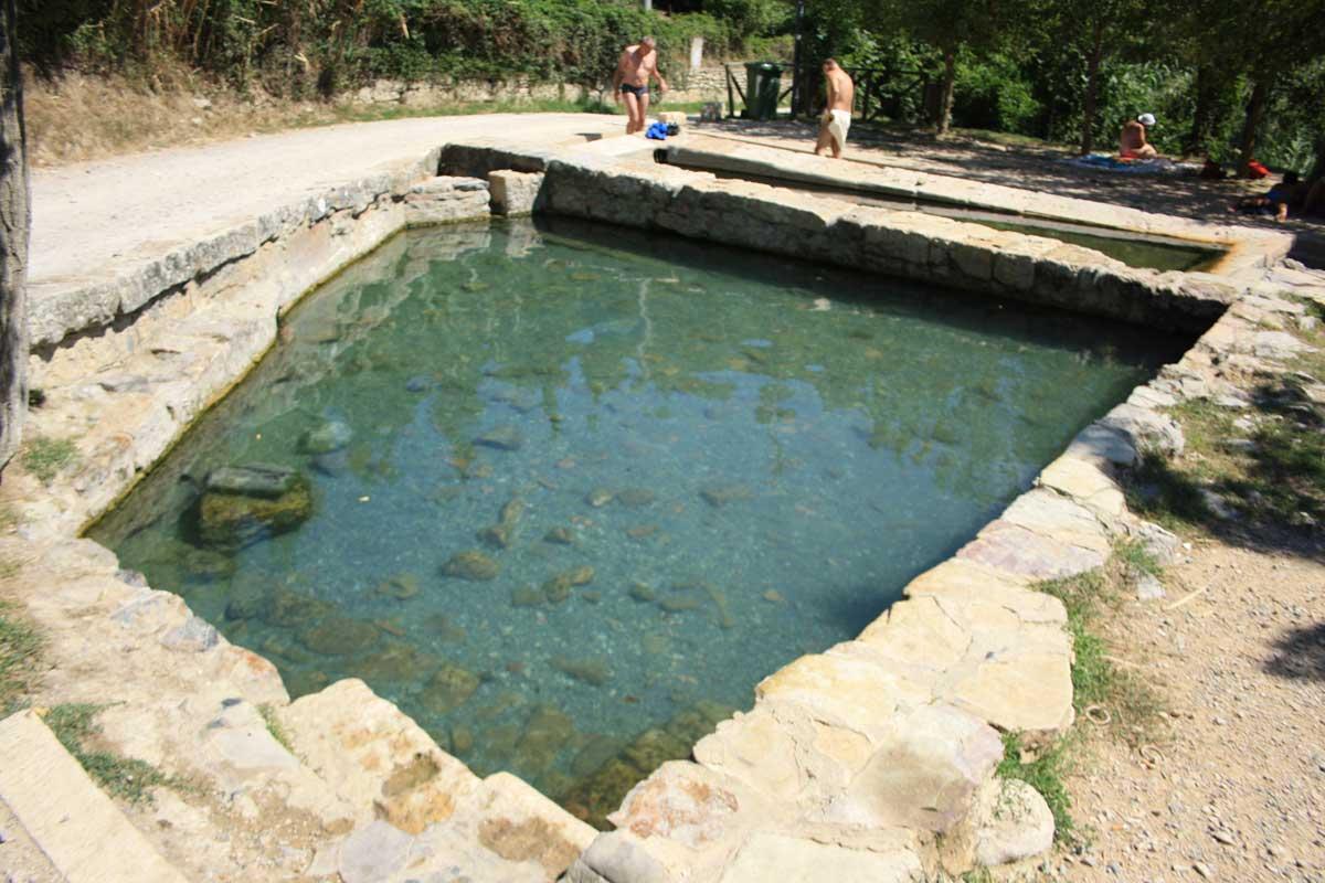 Le vasche termali di San Casciano dei Bagni