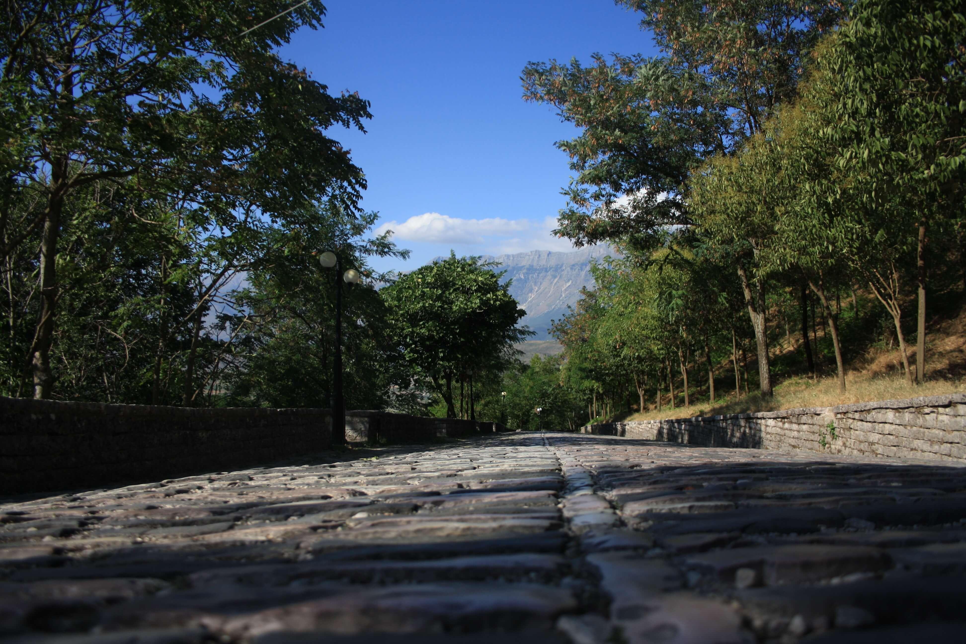 strada per la fortezza Argiroscatro Albania