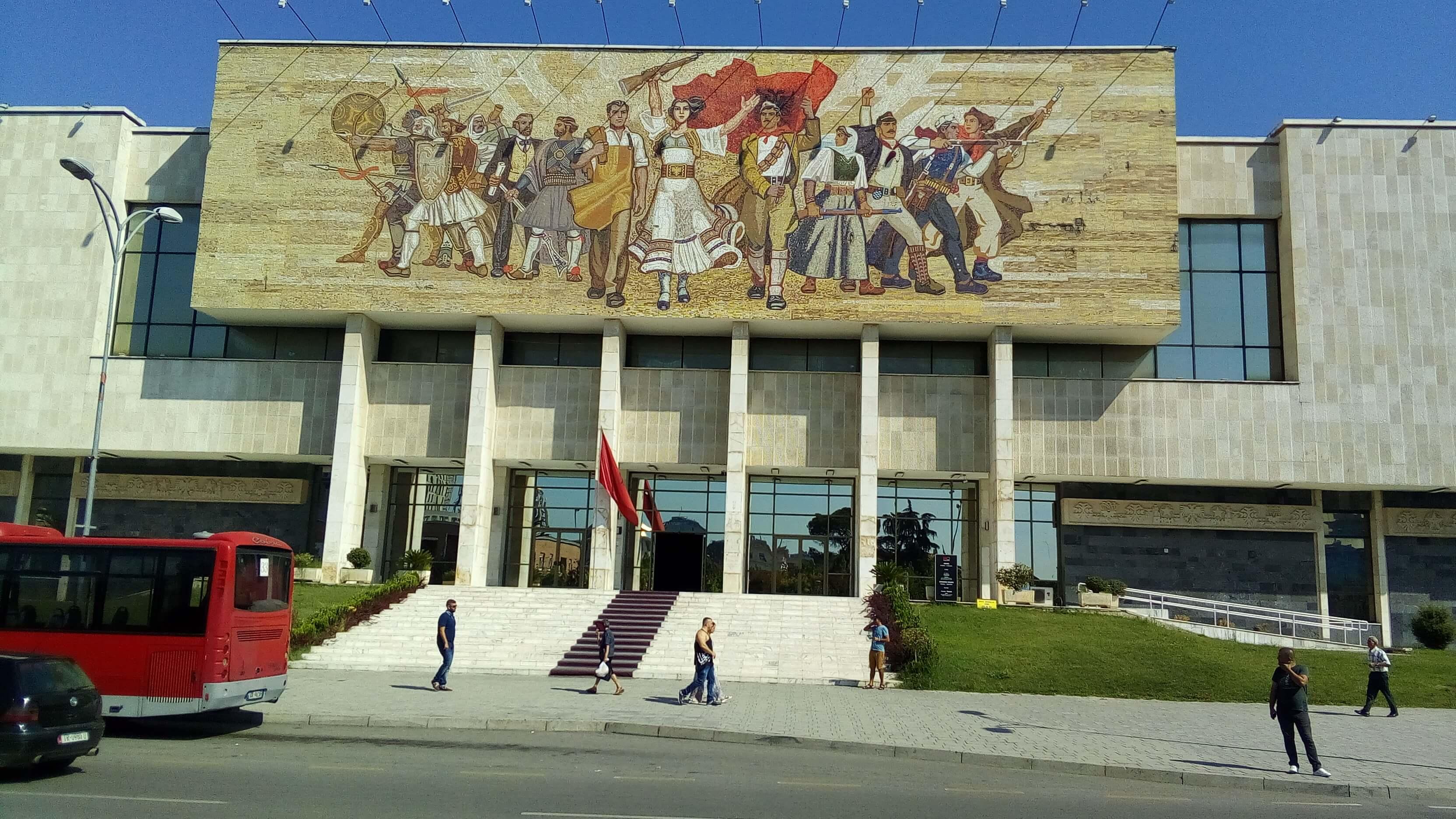 Museo storia archeologia tirana albania mosaico