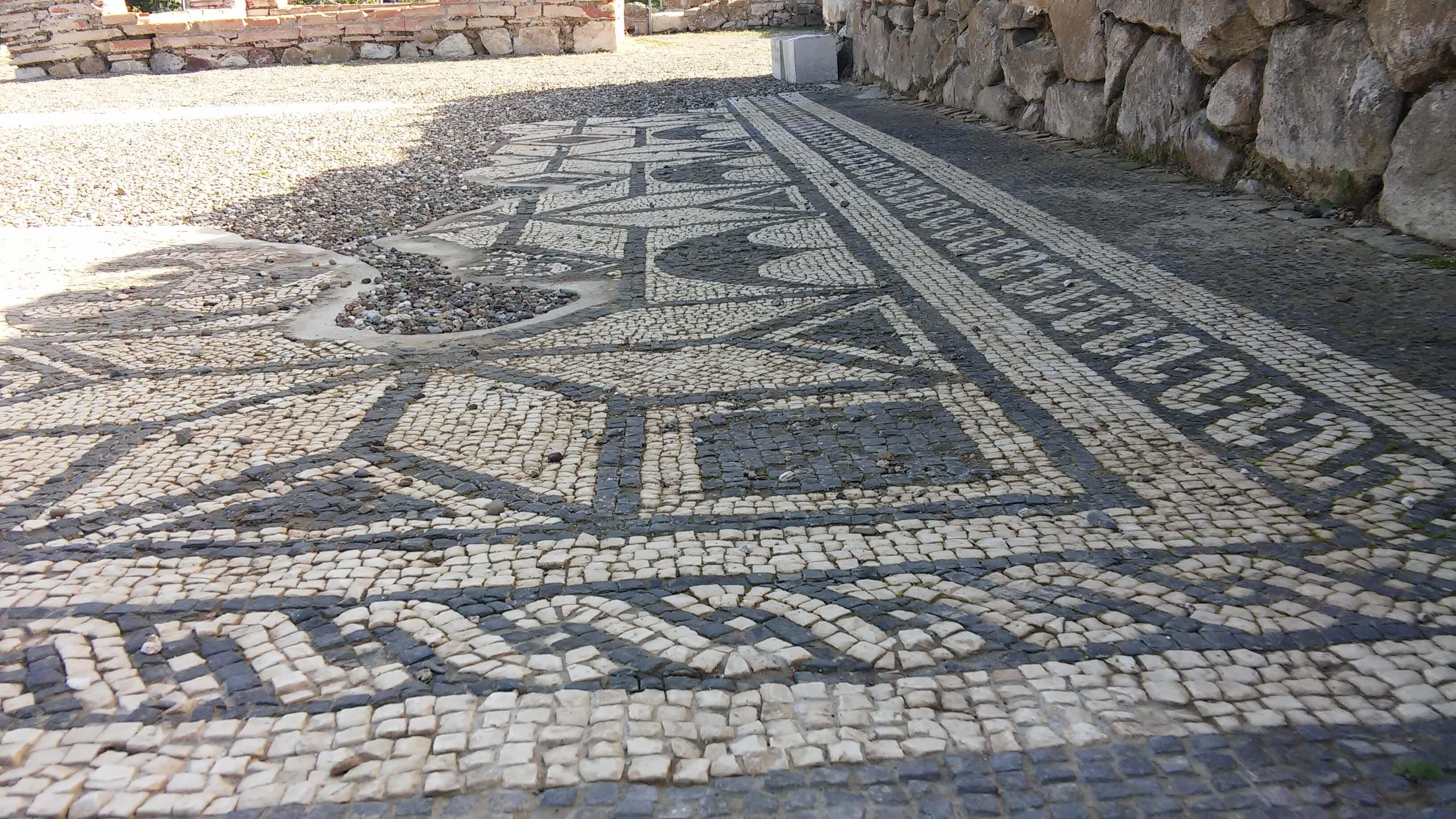 Roselle, particolare di un mosaico pavimentale