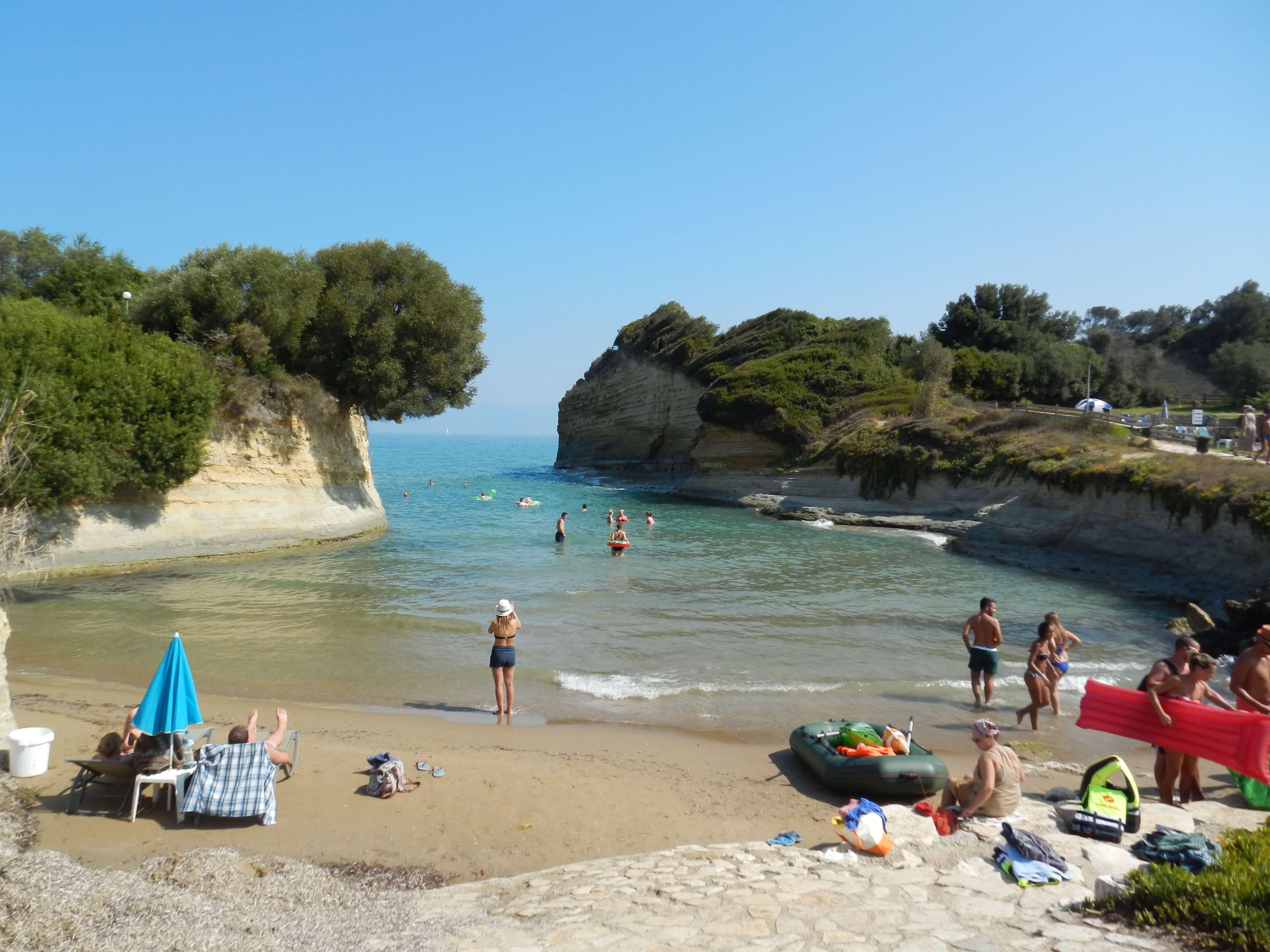 Corfù e le spiagge