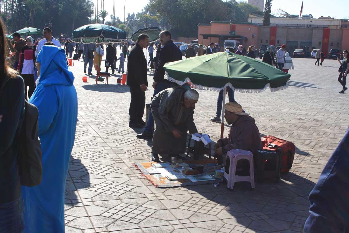 Marrakech, piazza Jemaa el-Fna