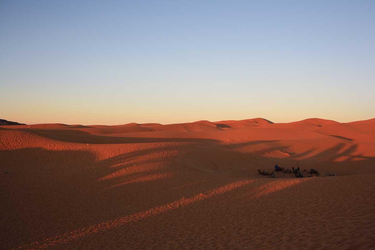 Il deserto del Sahara e le dune dell'Erg Chebbi