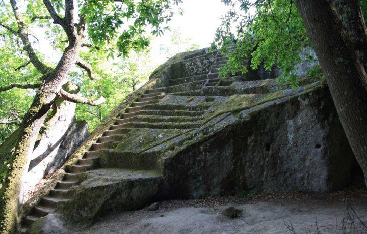 La piramide etrusca di Bomarzo