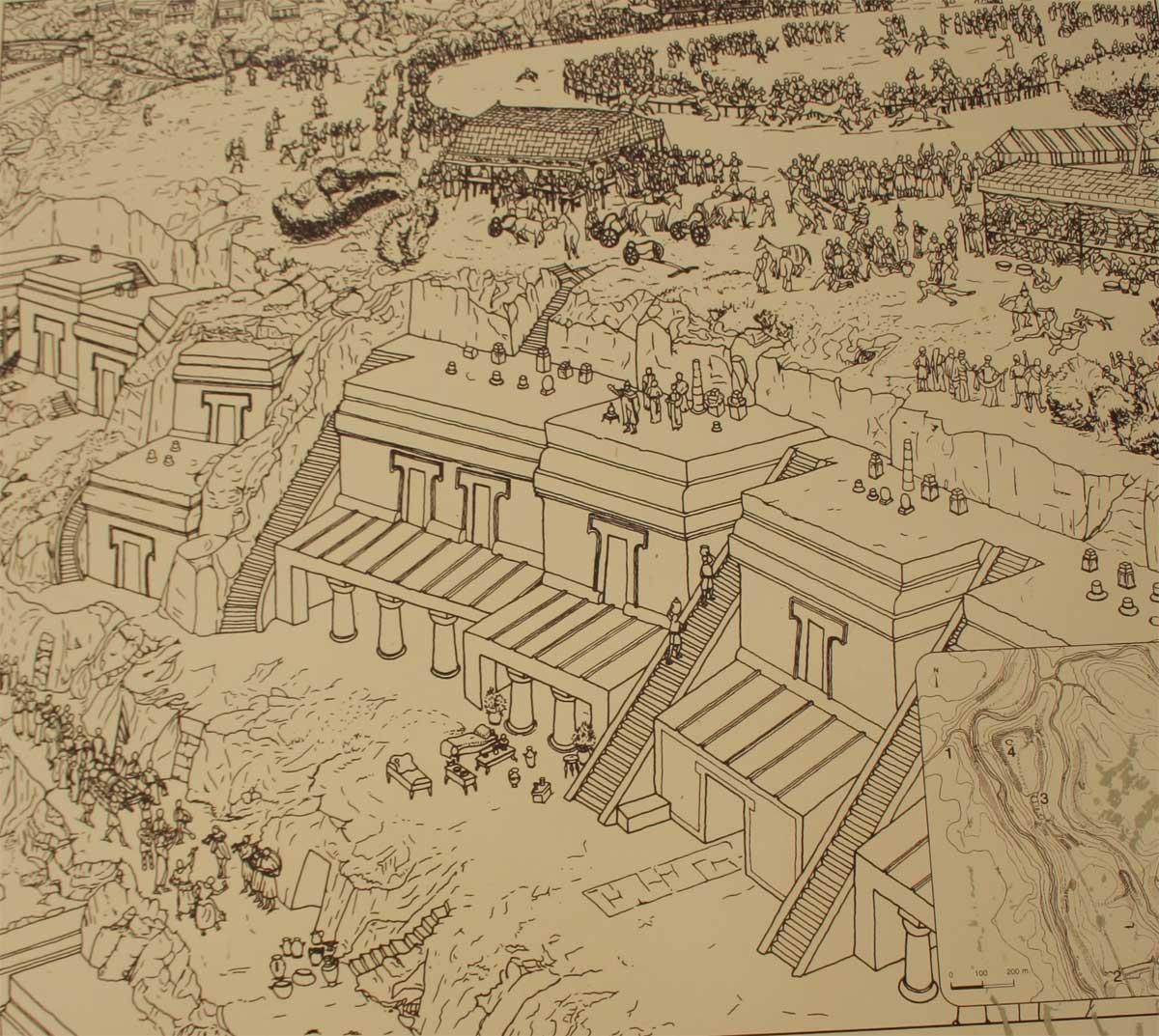 Norchia Antica, ricostruzione